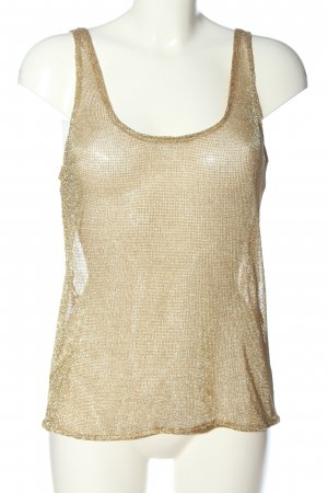 Zara Camisole bronzefarben Webmuster Glitzer-Optik