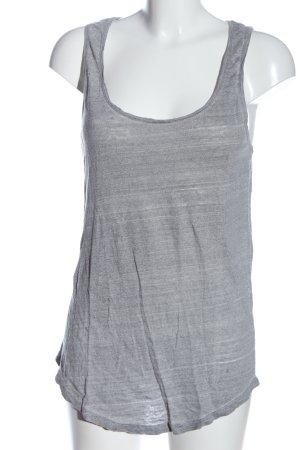Zara Podkoszulek na ramiączkach jasnoszary W stylu casual