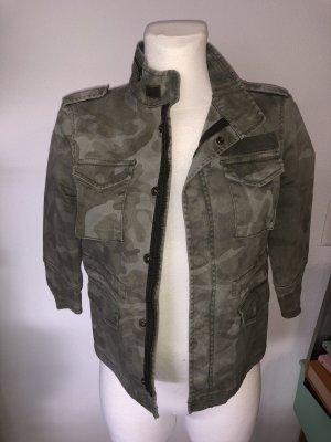 Zara Camouflage Denim Jacke M