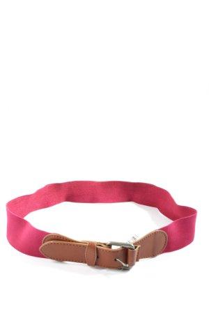 Zara Canvasgürtel pink-braun Casual-Look