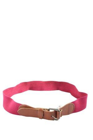 Zara Cinturón de lona rosa-marrón look casual