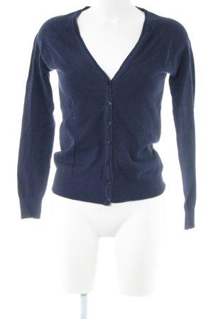 Zara Cardigan blau Business-Look