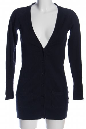 Zara Cardigan blau Business-Look