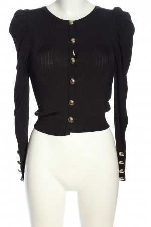 Zara Cardigan schwarz Streifenmuster Casual-Look