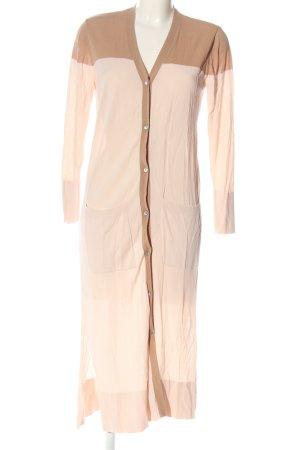 Zara Cardigan creme-braun Casual-Look