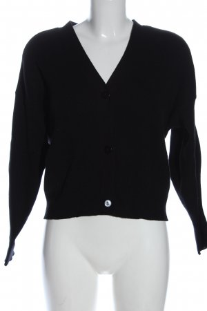 Zara Kardigan czarny W stylu casual