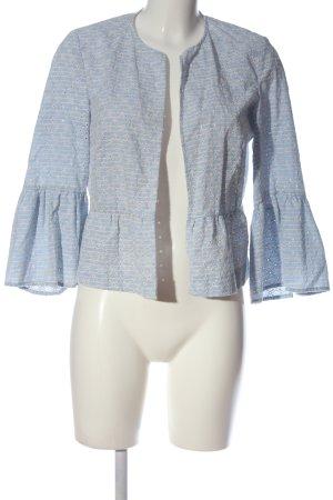 Zara Cardigan blau-weiß Allover-Druck Casual-Look