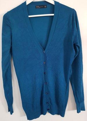 Zara Cardigan, blau-grün, Größe M