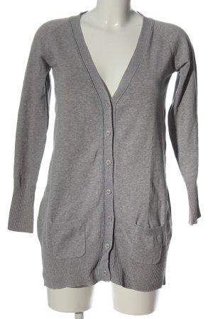 Zara Cardigan gris clair moucheté style décontracté