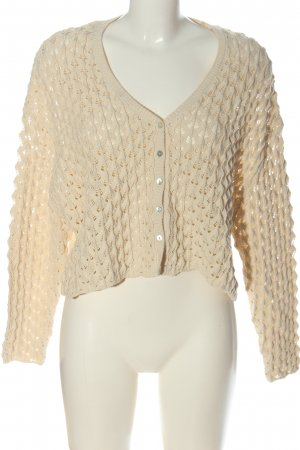 Zara Cardigan nude Casual-Look