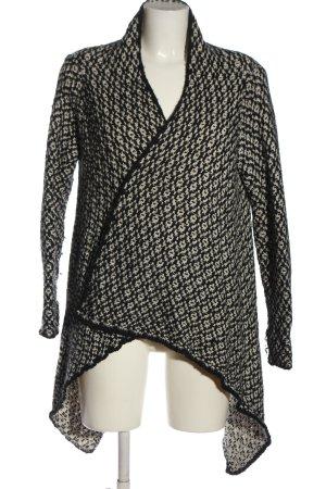 Zara Cardigan weiß-schwarz Allover-Druck Casual-Look