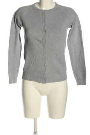 Zara Cárdigan gris claro moteado estilo «business»