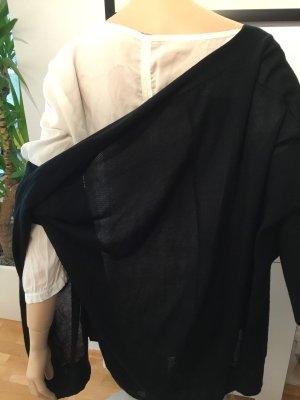 Zara cardigan Jacke Weste schwarz M 38 Offen ohne Knöpfe
