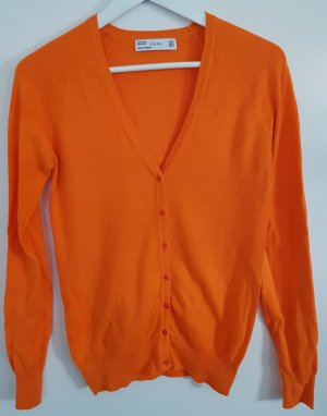 Zara Cardigan, kräftiges orange, Größe M