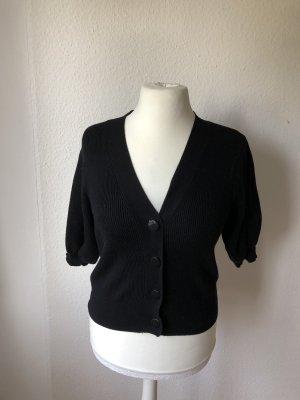 Zara Cardigan à manches courtes noir