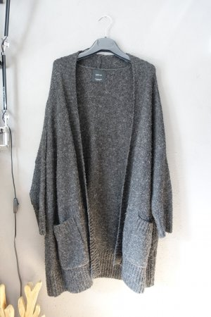 Zara Cardigan mit Taschen, Grobstrick, anthrazit, meliert, grau, sehr weich, Strickjacke