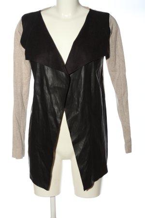 Zara Cardigan schwarz-creme meliert Elegant