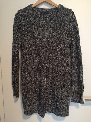 Zara Cardigan Strickjacke weiß grau warm M