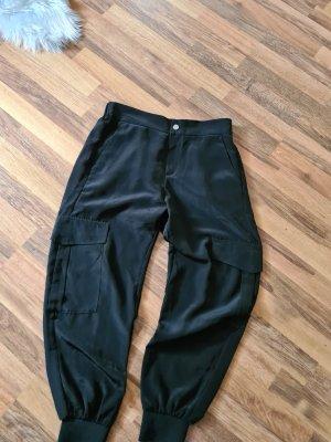 Zara Pantalon cargo noir