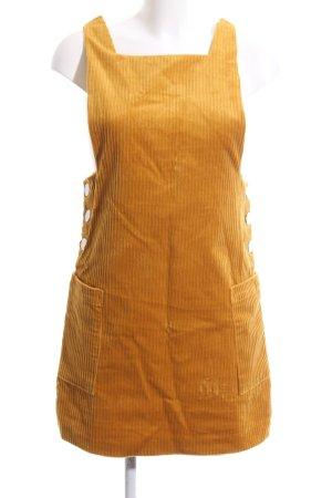 Zara Vestido de camuflaje amarillo pálido tejido mezclado
