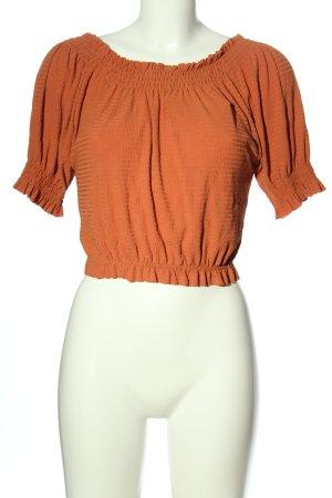 Zara Carmen blouse licht Oranje gestreept patroon casual uitstraling