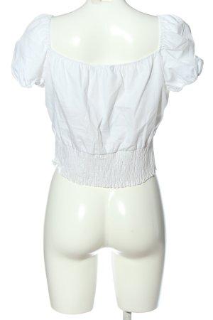 Zara Blouse Carmen blanc style décontracté