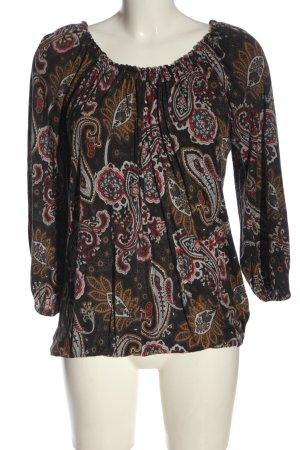 Zara Bluzka typu carmen Nadruk z motywem W stylu casual