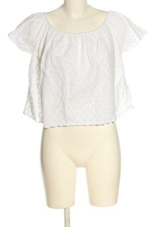 Zara Carmen-Bluse weiß Casual-Look