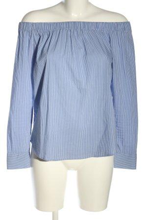 Zara Carmen-Bluse blau-weiß Allover-Druck Casual-Look