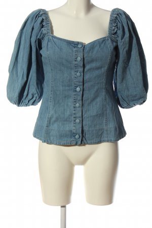 Zara Carmen-Bluse blau Casual-Look