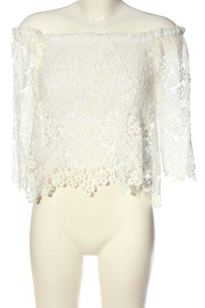 Zara Blusa alla Carmen bianco elegante