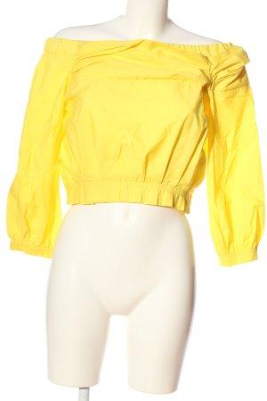 Zara Carmen-Bluse blassgelb Casual-Look