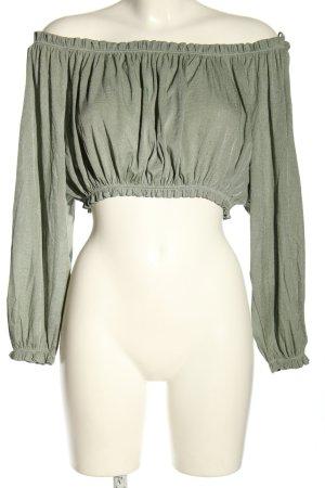 Zara Carmen-Bluse khaki Casual-Look