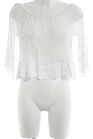 Zara Carmen-Bluse weiß Elegant