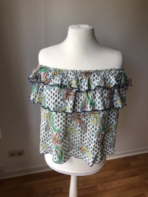 Zara Carmen Top mit Volants