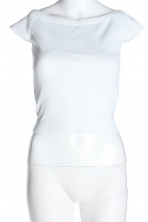 Zara Camisa tipo Carmen blanco look casual