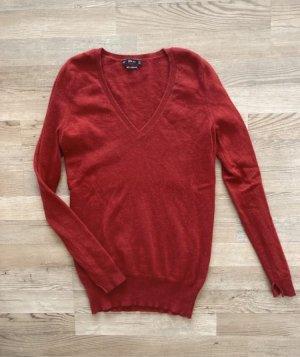 Zara Pullover in cashmere rosso scuro-rosso