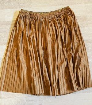 Zara Falda plisada marrón