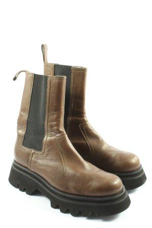 Zara Chelsea Boots braun Casual-Look
