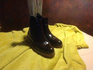 Zara chelsea boots Bordeux Lack gr39