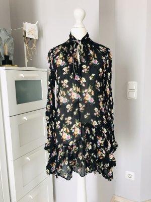 Zara Chiffon Kleid Floral mit Schleife XS