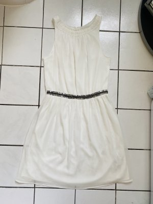 Zara Chiffon Dress white-silver-colored
