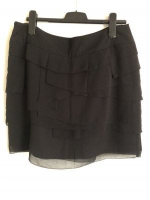 Zara Woman Broomstick Skirt black