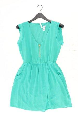 Zara Chiffonkleid Größe M Ärmellos grün aus Polyester