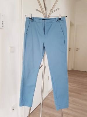 Zara Basic Chinosy turkusowy