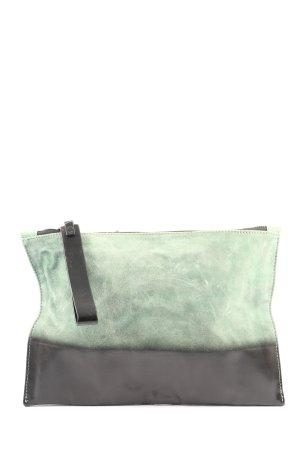 Zara Borsa clutch verde-nero Colore sfumato stile casual