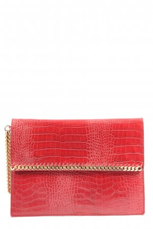 Zara Clutch rot Animalmuster Casual-Look