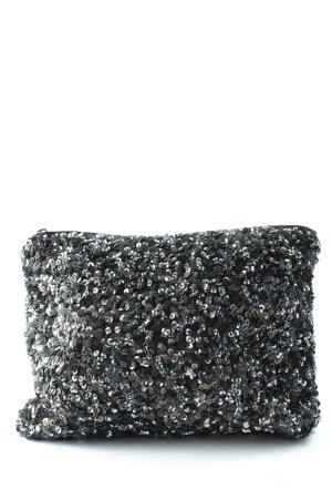 Zara Clutch schwarz Glitzer-Optik