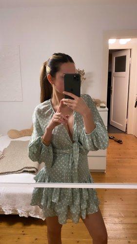 Zara Co Ord Polka Dot Punkte Set Grün Mint Shorts Set Kleid