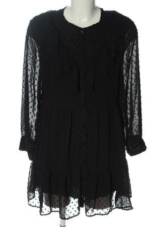 Zara Cocktailkleid schwarz Punktemuster Elegant